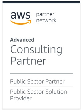 AWS logo with details on recognition for advanced cloud consulting